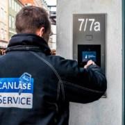 låsesmed fra can service installerer adgangskontrol og låsesystemer i københavn