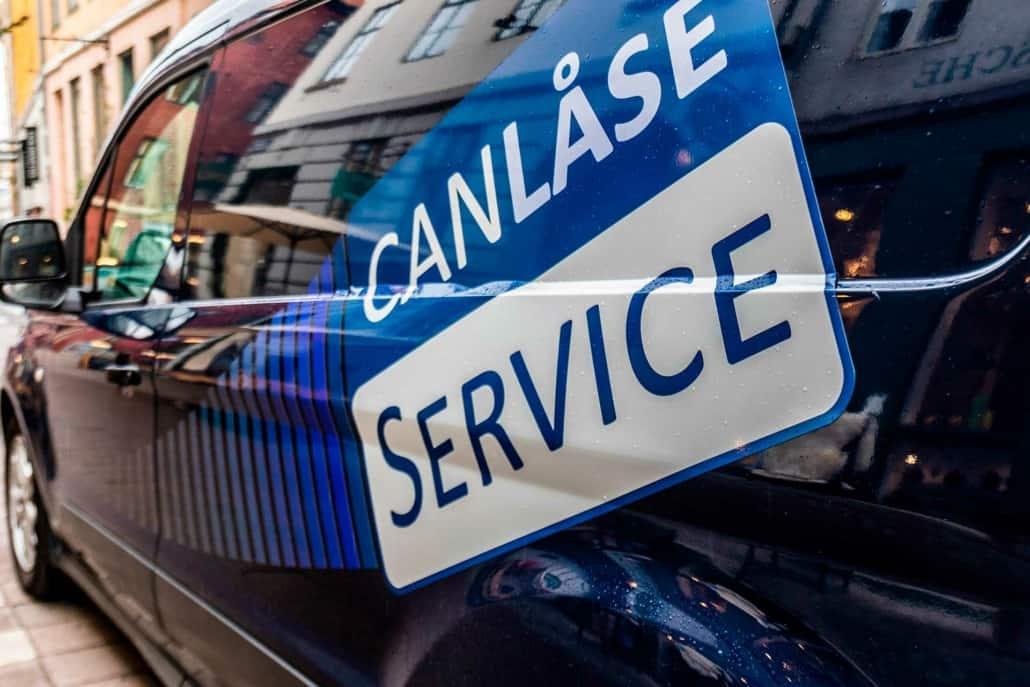 stort can service på varevogn fra låsesmed